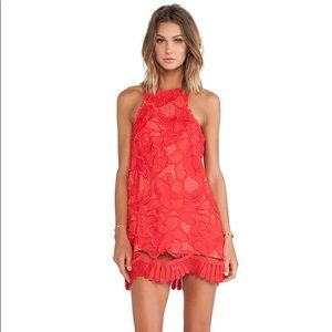 Lovers and Friends Caspian shift dress in coral